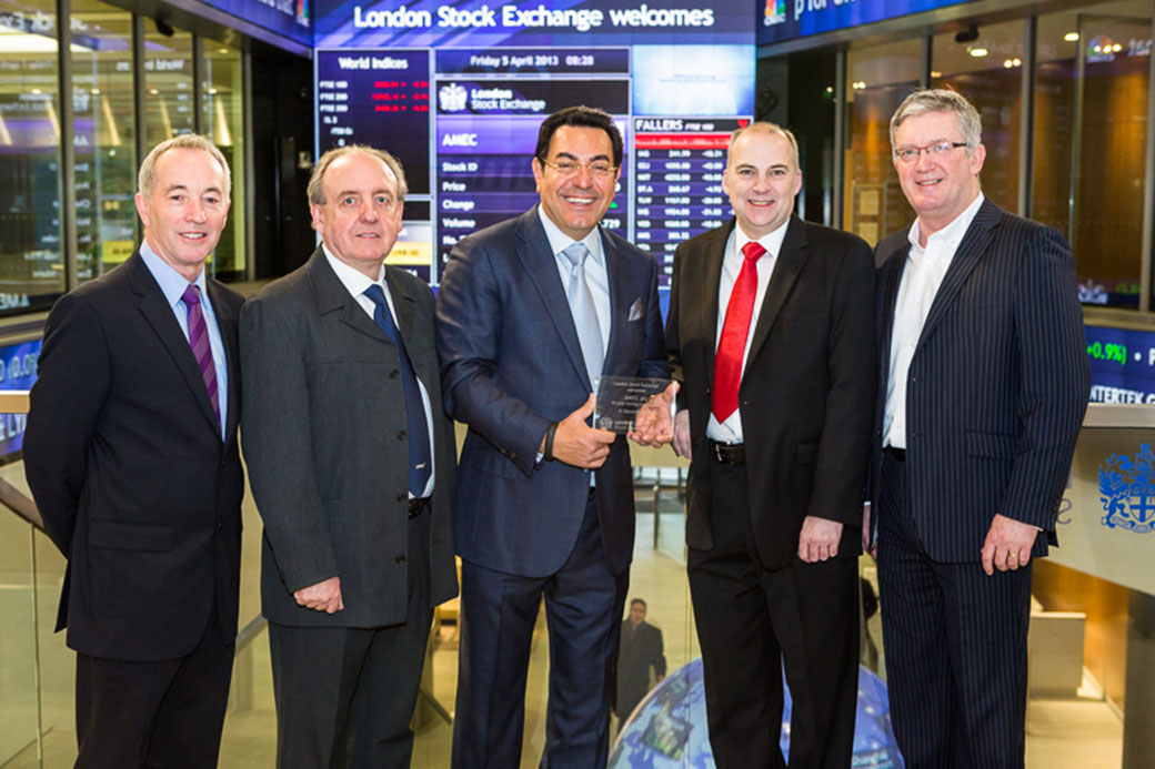 AMEC celebrates 30 years by opening the London Stock Exchange